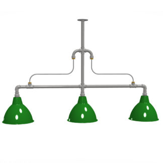 Large braced plumbing pipe billiard table light