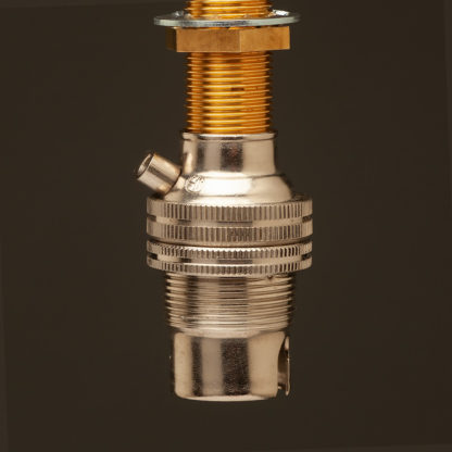 Nickel Threaded Entry Lamp holder Bayonet B15