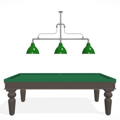 Large braced plumbing pipe billiard table light over 9 ft table