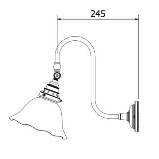 Adjustable Doncaster bend wall light fluted holophane dimensions