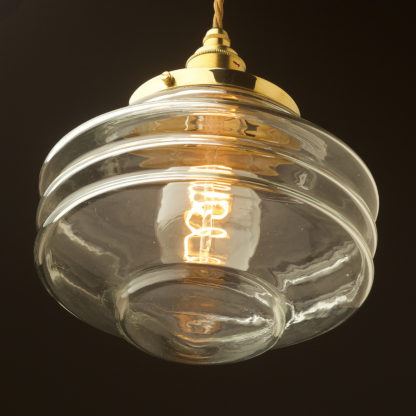 200mm clear glass schoolhouse shade pendant