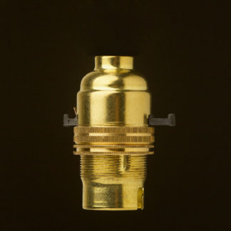 New Brass Switched Lamp holder Bayonet B22 fitting