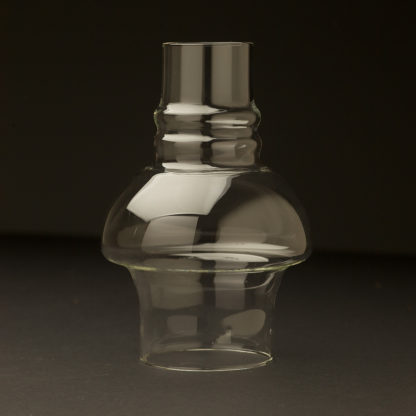 Clear hooded chimney glass shade