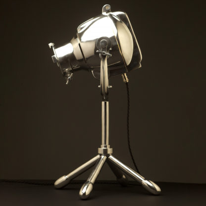 Reproduction Polished Aluminum Theater Spotlight table lamp