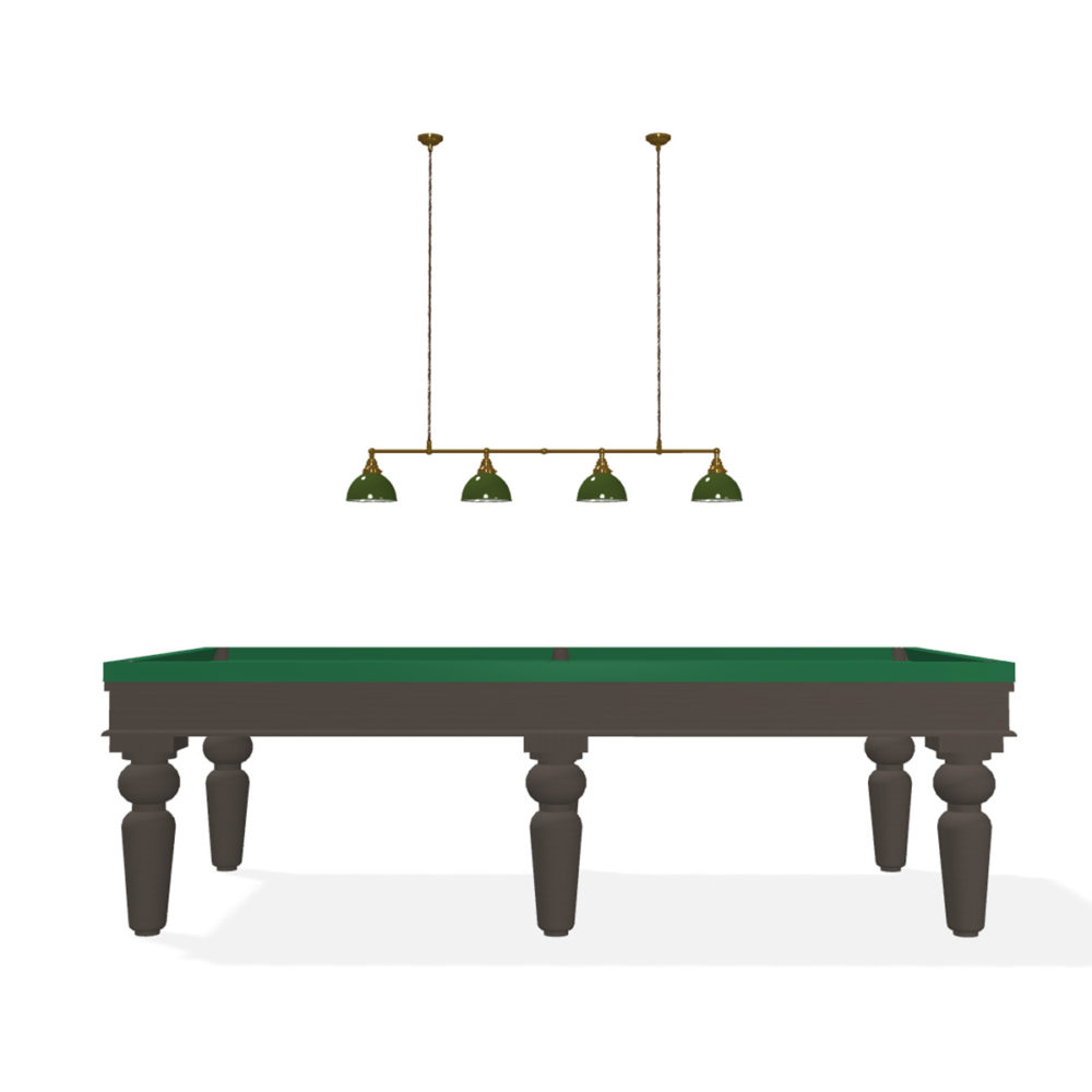1230 wide 9 ft billiard table green dome shades