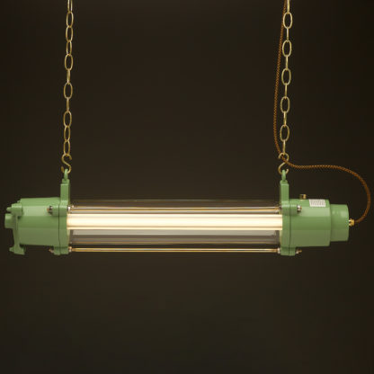 800 mm powder coat green glass explosion proof light