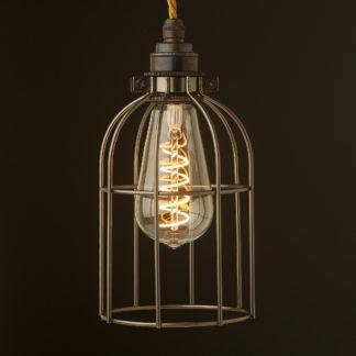 Antique bronze cage pendant