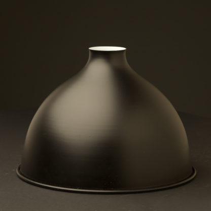 Flat black dome light shade 270mm