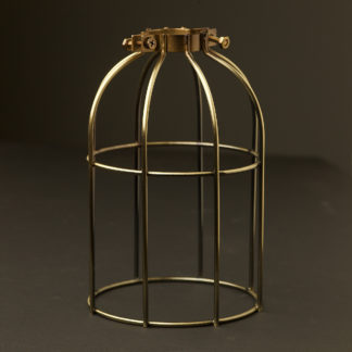 Light bulb antique brass cage fitting