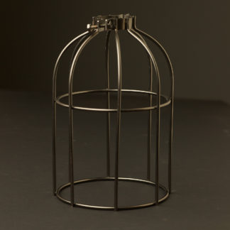 Light bulb antique bronze cage fitting