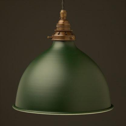 Antique green 270mm dome pendant antique brass hardware