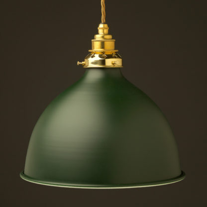 Antique green 270mm dome pendant new brass hardware