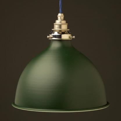 Antique green 270mm dome pendant nickel hardware