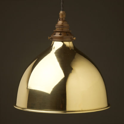 Polished brass 270mm dome pendant antique brass hardware