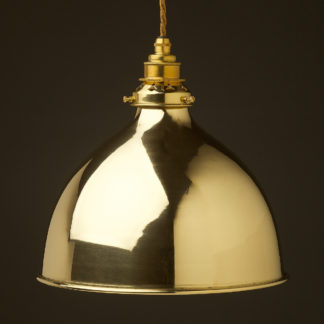 Polished brass 270mm dome pendant new brass hardware