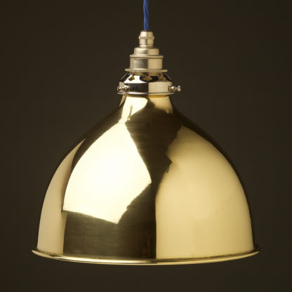 Polished brass 270mm dome pendant nickel hardware