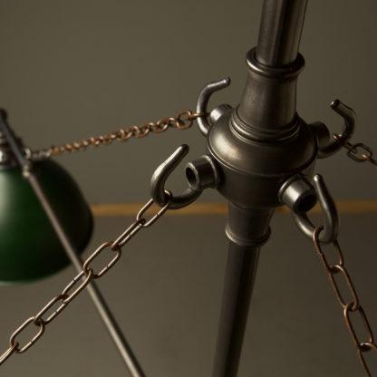 Vintage Edison full size cross billiard table light chain detail