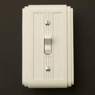 White Bakelite Art Deco single switch