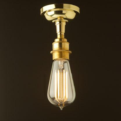 Polished Brass Batten Holder Edison E27 fitting