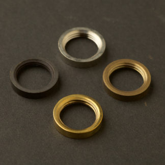 Small brass ring nut