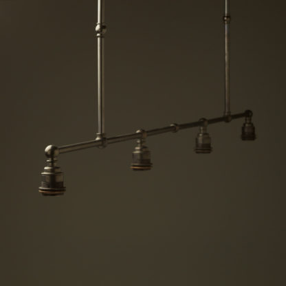Vintage Edison Extra Long Billiard Table light no shades or galleries