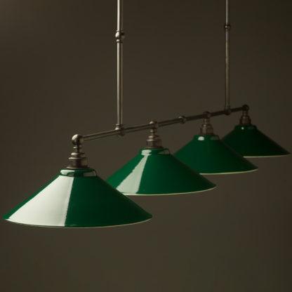 Vintage Edison Extra Long Billiard Table light green shade