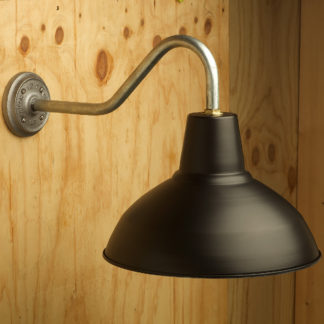 Gooseneck Barn light with flat black painted shade