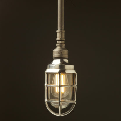 Raw steel Plumbing Pipe Caged Shade pipe light no shade aluminum cage