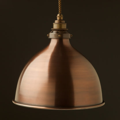 Bronze 270mm dome pendant antique brass hardware