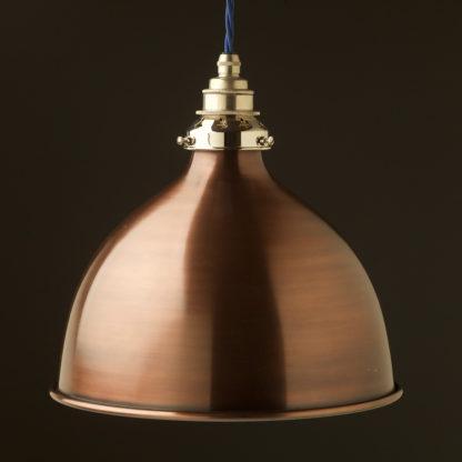 Bronze 270mm dome pendant nickel hardware