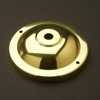115mm Brass Wall and Ceiling Plate Polished Brass