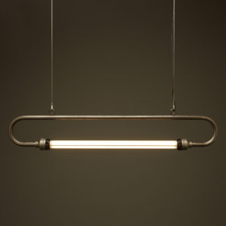 940mm half inch raw steel pipe loop LED tube light
