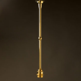 Single Rod Polished Brass lamp pendant E27 shade ring