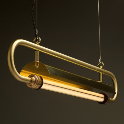 940 mm half inch solid brass pipe loop LED tube light